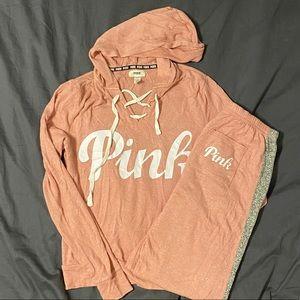 Pink Sweat pants with matching sweatshirts